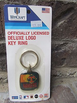 Vintage 1990 TEXAS RANGERS Key Chain WIN CRAFT Still Sealed in Package