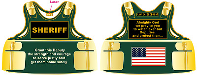Sheriff Body Armor Challenge Coin