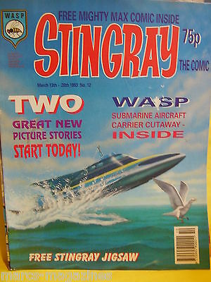 Stingray Magazine # 12 Mar 1993 Marina Girl Of The Sea Captain Troy Tempest Wasp
