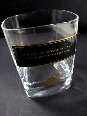 Vintage Chivas Regal Whiskey Glass Tumbler - Feast Days Fast Days