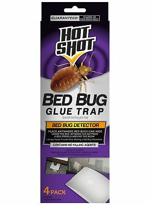 Hot Shot Early Bed Bug Infestation Detector Glue Trap 4x Count