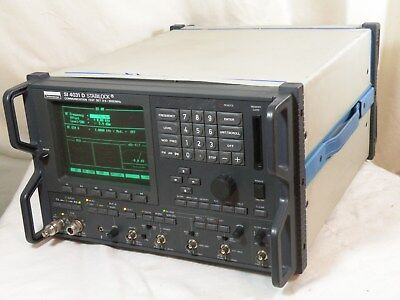 Schlumberger SI 4031D Stabilock Communication Analyzer, 400kHz - 1GHz Works Fine