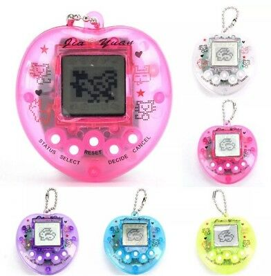 Tamagotchi Heart 168 Pet Game Keychain Toy Playable Random Color US Seller