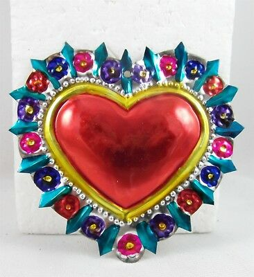 SACRED HEART Milagros LOVE valentine MADE IN MEXICO handmade 2016A