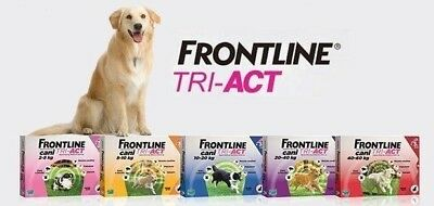 FRONTLINE TRI-ACT dog 3 pipettes all sizes