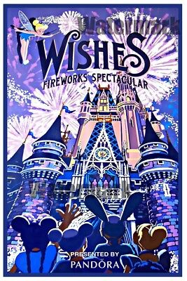 "Wishes Fireworks Spectacular Disney Collector's Poster 12"" X 18"""