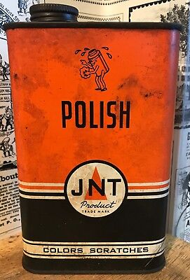 Vintage JNT Polish Can - New York 18, N.Y. - Colors Scratches - 1 Pint