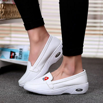 259bfa7d9d3 Womens Platform Wedge Nurse Shoes Loafers Casual Sneakers Slip On Round Toe  size