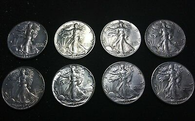 @@@extremely Rare!! 90% Silver Walking Liberty Half Dollars Bu@@@