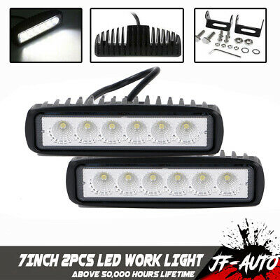 2X7'' LED Light Work Bar 12V 24V Lamp Driving Fog Offroad SUV 4WD Car Boat Truck
