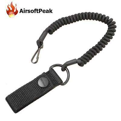 Anti-lost Elastic Lanyard Rope Black Spring Safety Strap For Chain Flashlight
