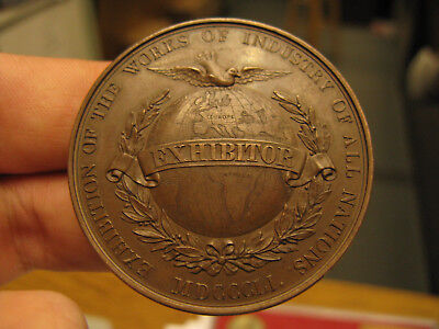 1851 Great Exhibition EXHIBITOR Medal Frankfurt FRANKFORT ON THE MAINE Number 1