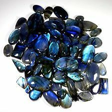 100Cts. Wholesale Lot Natural Blue Fire Labradorite Mix Cabochon Gemstone