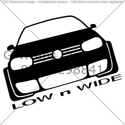Vw Golf Low & Wide Sticker Very cool High Quality Fits All Types of cars & MORE!
