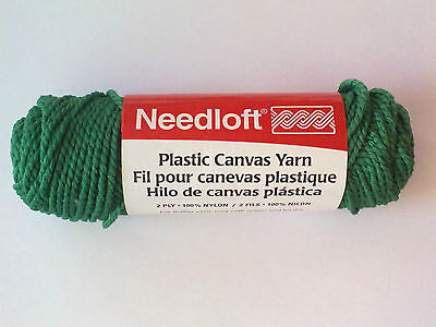 6 Balls Needloft Plastic Canvas Yarn Holly Green Style 100% Nylon  Hilados Verde