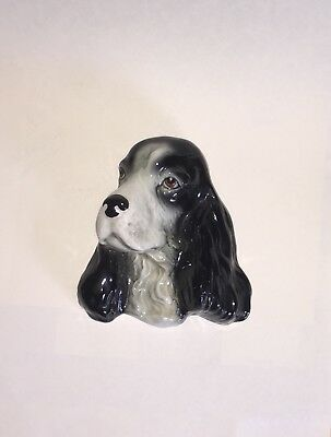 Beautiful Vintage Sylvac wall mounted Cocker Spaniel dog Made in England Mod 88