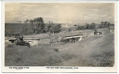 The Old Fort Wollongong Nsw Photo Postcard Canons