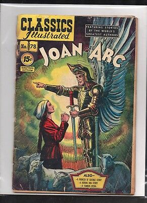 Classics Illustrated #78 Poor   Hrn87  (Joan Of Arc)