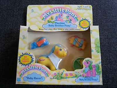 Hasbro My Little Pony Mein Kleines Playtime Brother Baby Racer MIB Boxed MIP