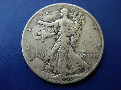 Very nice 1946-D Walking Liberty half in F+ condition. #8