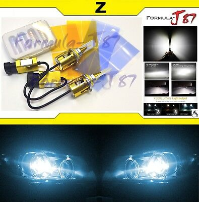 LED Kit Z 96W H12 9055 8000K Icy Blue Two Bulbs Fog Light Replacement Lamp Fan