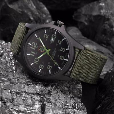 Men's Outdoor Survival Date Stainless Steel Brand Military Sports Analog Quartz