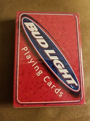 1999 Bud Light Beer Red Color BICYCLE Playing Cards Anheuser-Busch Sealed NOS!!!