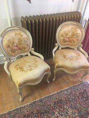 Pair Of Vintage French Accent Chairs