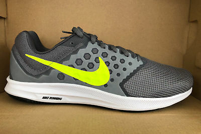 MEN'S NIKE DOWNSHIFTER 7 SHOES grey volt white 852459 004