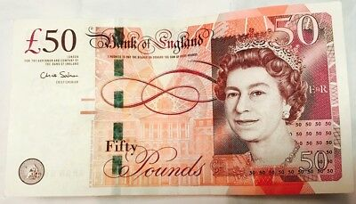 UK Britain British England £ 50 Pound REAL Original Genuine Banknote Paper Money