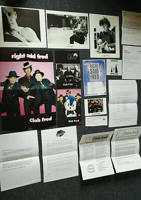 Right Said Fred fan club newsletters, magazines and photos