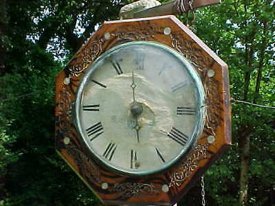 Antique German Black Forest Postmans Wall Clock Trench Art