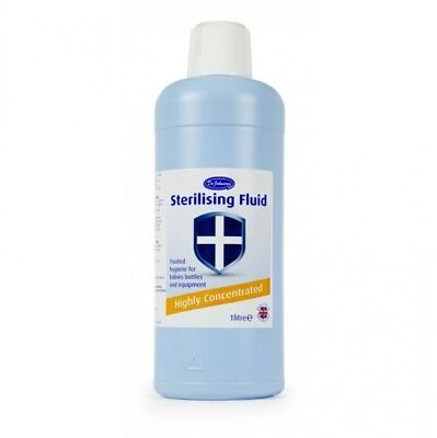 Dr Johnson Sterilizing Fluid 1 Liter Bottle x 12 - Perfect for Cleaning Home!
