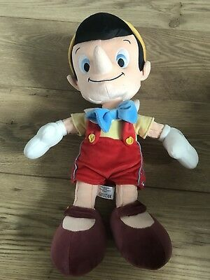 Disney Store PINOCCHIO STAMPED Soft Toy Plush teddy Bear