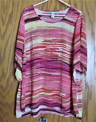 Catherine's Top Size 1X (18/20W) - Multicolored - 100% Polyester