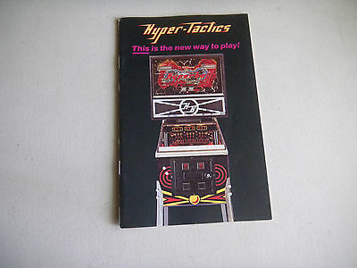 Hyper Tactis Hyperball Booklet  Pinball  Arcade Game  Flyer