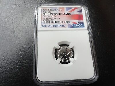 2018 1/10 oz. Platinum Coin -  Great Britain NGC BU