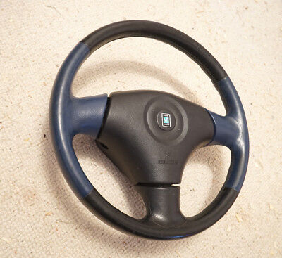 Mazda Mx5 Leather Nardi Steering Wheel in Blue with airbag
