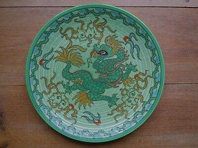 Antique Charlotte/frederick Rhead Wall Plaque/charger Dragon/manchu Design Excon