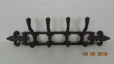 Vintage  Cast Iron Wall Hanger with 4 Hooks | Decorative Cast Iron Wall
