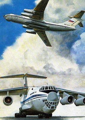Antique Card Russian Airlines Aeroflot Camonet The Il 76T