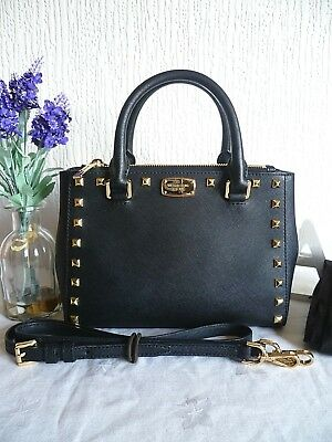 360f2fa273 MICHAEL KORS Saffiano Leather Black Studded