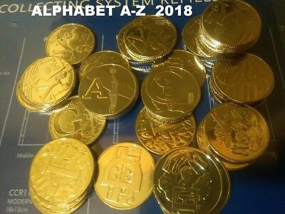 10p a z coins rare ALPHABET Ten Pence Piece 2018 UNCirculated  BANK SEALED BAGS