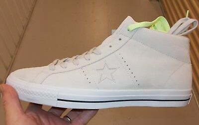 073e8763b2e3 CONVERSE ONE STAR Pro Suede Mid PRO PUTTY White 157868C US Mens SIZE ...