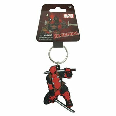 Marvel Comics NEW * Deadpool Soft Touch Keychain * Key Chain Ring Licensed NIP