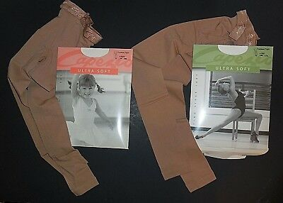 Capezio Ultra Soft Footless Tights for Girls Style 1817C One Size