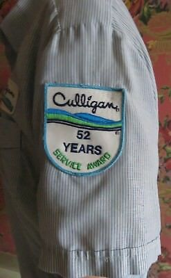 Culligan 52 Years Service Award 3 Piece Patch Set on Original Shirt Used As Is