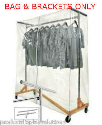 Z Rack Clear Vinyl Cover Bag with Zipper and Support Brackets