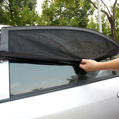 2 Pcs Window Sun Shade Mesh Cover UV Protector Shield Curtain for Car SUV Side