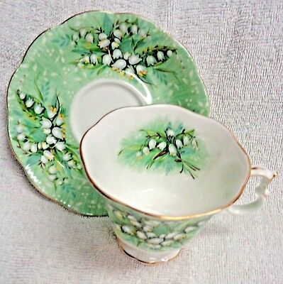 Royal Albert Festival Series Haymarket Green And White Cup and Saucer